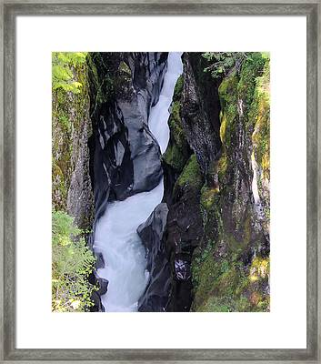 Box Canyon  Framed Print by Jeff Swan