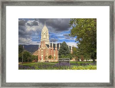 Box Elder Tabernacle Framed Print by Donna Kennedy