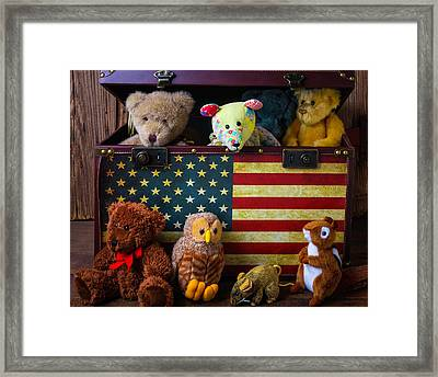 Box Full Of Bears Framed Print by Garry Gay