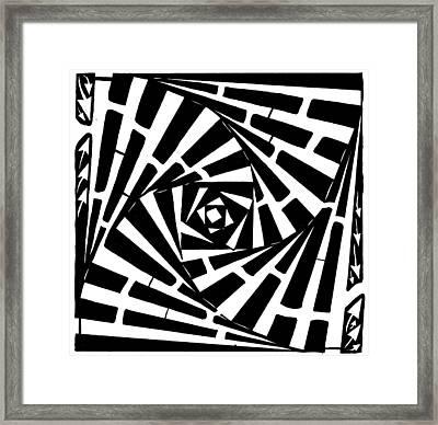 Box In A Box Maze Framed Print by Yonatan Frimer Maze Artist