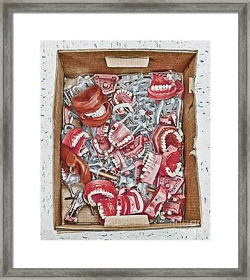 Box Of Dental Equipment Framed Print by Skip Nall