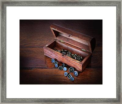 Box Of Letters Framed Print by David and Carol Kelly