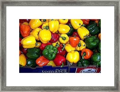 Box Of Peppers Framed Print