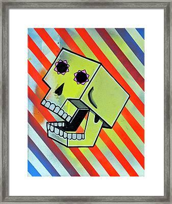 Box Skull Framed Print