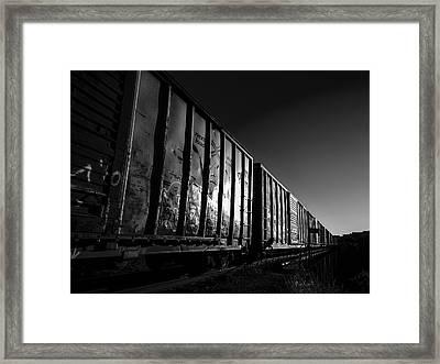 Boxcar Sunrise Framed Print by Bob Orsillo