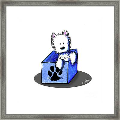 Boxed In Cuteness Framed Print by Kim Niles