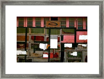 Boxed Scramble Framed Print by Jez C Self