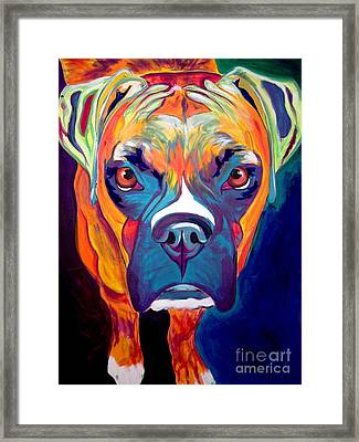 Boxer - Harley Framed Print by Alicia VanNoy Call