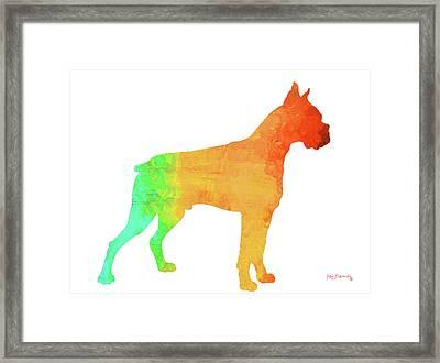 Boxer Art Framed Print by Ken Figurski