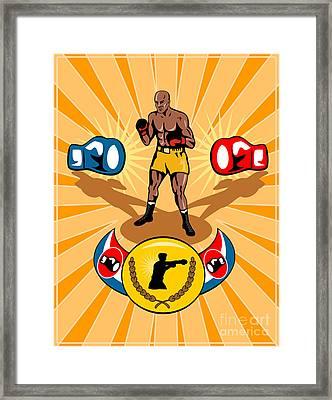 Boxer Boxing Poster Framed Print by Aloysius Patrimonio