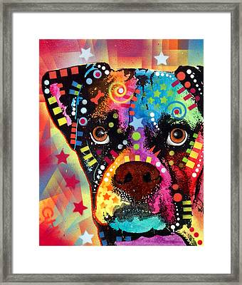 Boxer Cubism Framed Print by Dean Russo