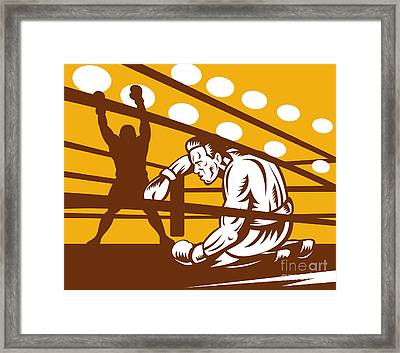 Boxer Down On His Hunches Framed Print