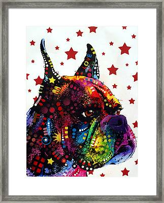 Boxer Love Framed Print