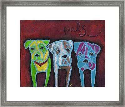 Boxer Pals Framed Print by Allison Crow