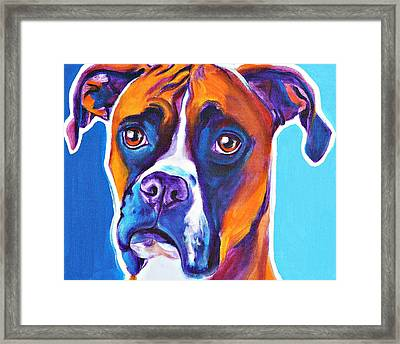 Boxer - Rex Framed Print by Alicia VanNoy Call