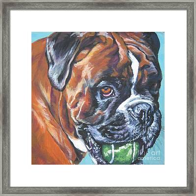 Boxer Tennis Framed Print