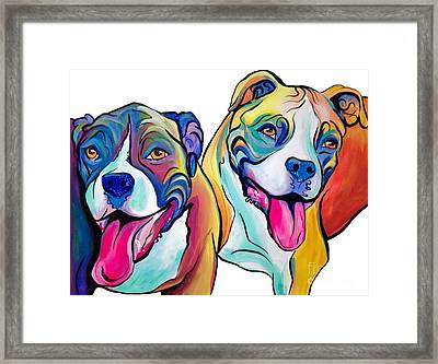 Boxers Framed Print by Abbi Kay