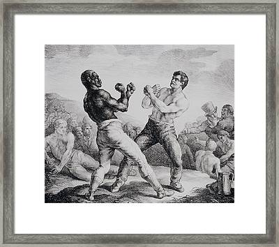 Boxers Framed Print by Theodore Gericault