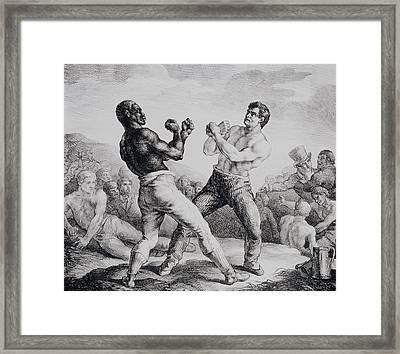 Boxers Framed Print