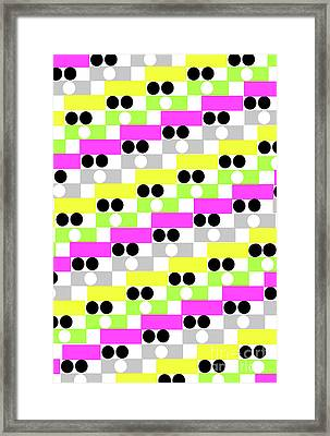 Boxes And Spots Framed Print by Louisa Knight