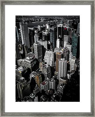 Boxes Of Manhattan Framed Print by Nicklas Gustafsson