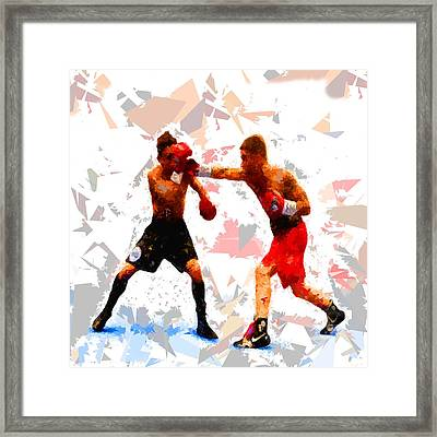 Framed Print featuring the painting Boxing 113 by Movie Poster Prints
