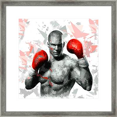 Framed Print featuring the painting Boxing 114 by Movie Poster Prints