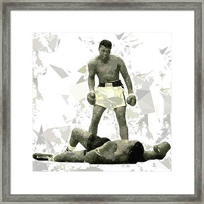 Framed Print featuring the painting Boxing 115 by Movie Poster Prints