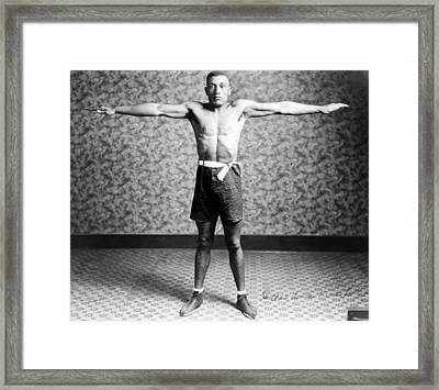 Boxing. Boxer Tut Jackson, Ca. 1922 Framed Print by Everett