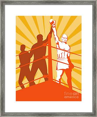 Boxing Champion Framed Print by Aloysius Patrimonio