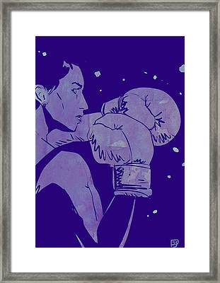 Framed Print featuring the drawing Boxing Club 2 by Giuseppe Cristiano