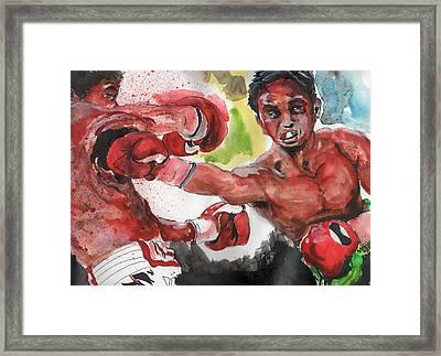 Boxing Fury Framed Print by Matt Burke