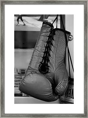 Boxing Glove Framed Print by Robert Ullmann