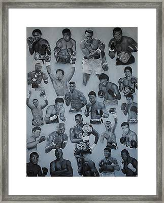 Boxing's Greatest Framed Print by David Dunne