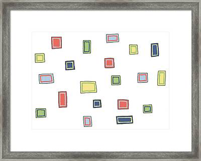 Framed Print featuring the drawing Boxing by Jill Lenzmeier