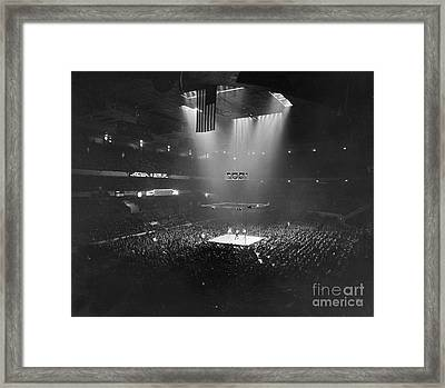 Boxing Match, 1941 Framed Print