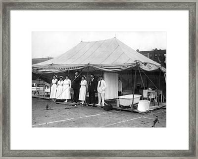 Boxing Match Field Hospital Framed Print