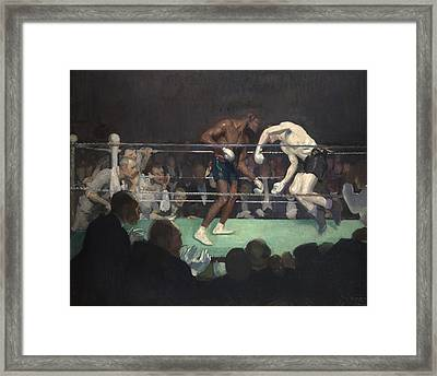 Boxing Match Framed Print