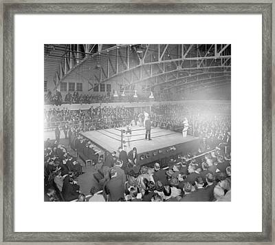 Boxing Match In 1916 Framed Print by American School