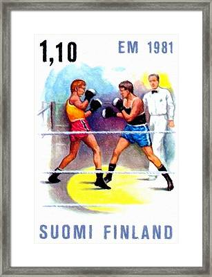 Boxing Match Framed Print by Lanjee Chee