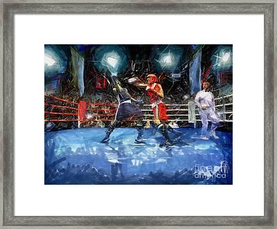 Boxing Night Framed Print by Murphy Elliott