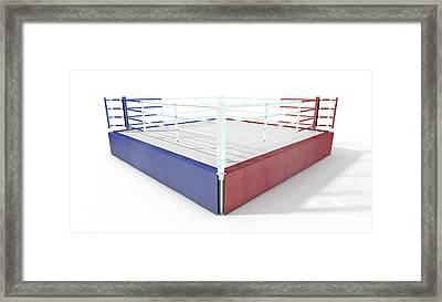 Boxing Ring Modern Isolated Framed Print