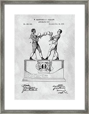 Boxing Toy Patent  Framed Print by Dan Sproul
