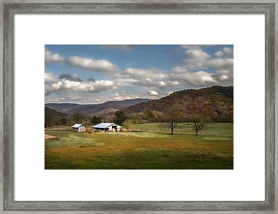 Boxley Valley Farm Framed Print