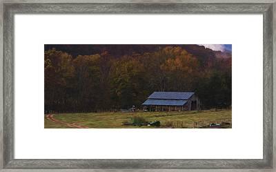 Boxley Valley Farm Framed Print by Jonas Wingfield