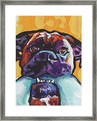 Boxy Boxer Framed Print by Lea
