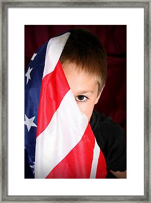 Boy And His Country Framed Print