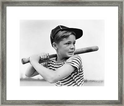 Boy At Bat, C.1930s Framed Print by H. Armstrong Roberts/ClassicStock