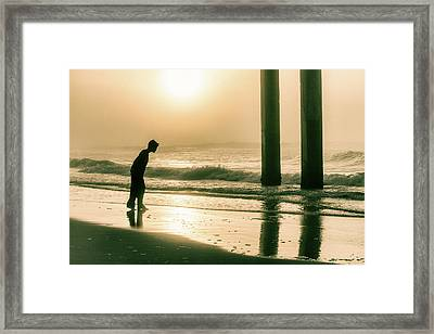 Framed Print featuring the photograph Boy At Sunrise In Alabama  by John McGraw