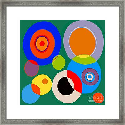 Framed Print featuring the painting boy by Beth Saffer